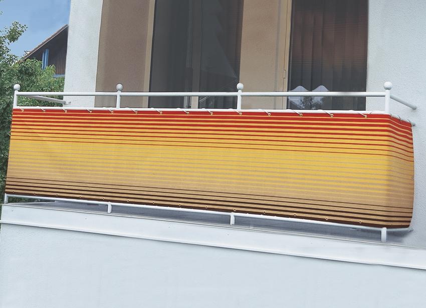 balkonbespannung in verschiedenen farben sichtschutz und sonnenschutz brigitte hachenburg. Black Bedroom Furniture Sets. Home Design Ideas