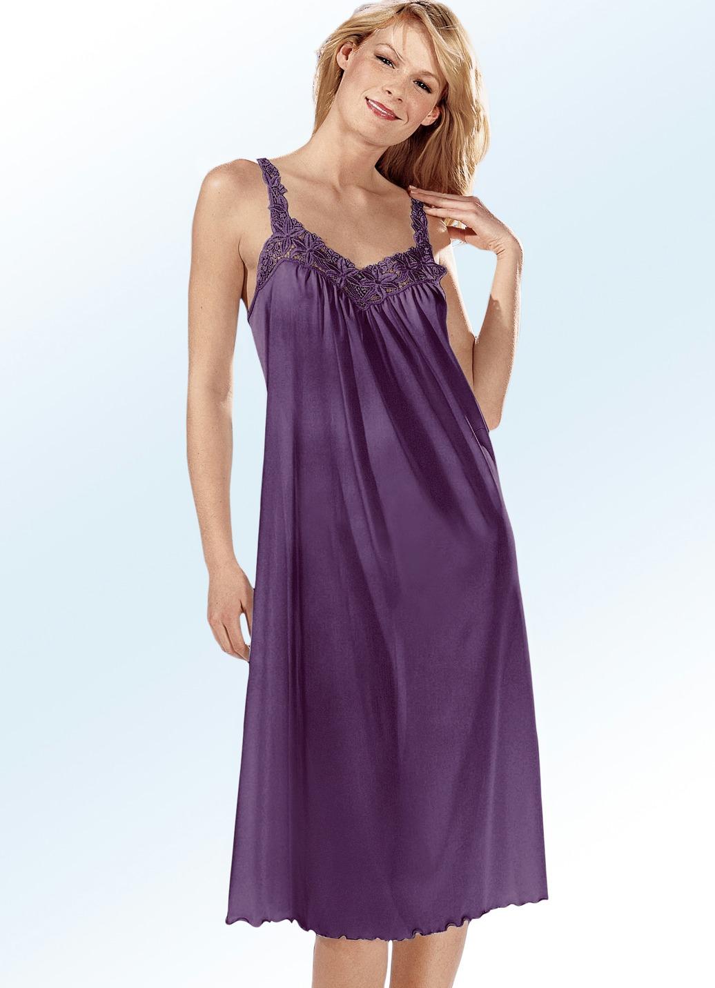 Nachthemd in 2 farben mit spaghettitr gern damen for Brigitte hachenburg modekatalog
