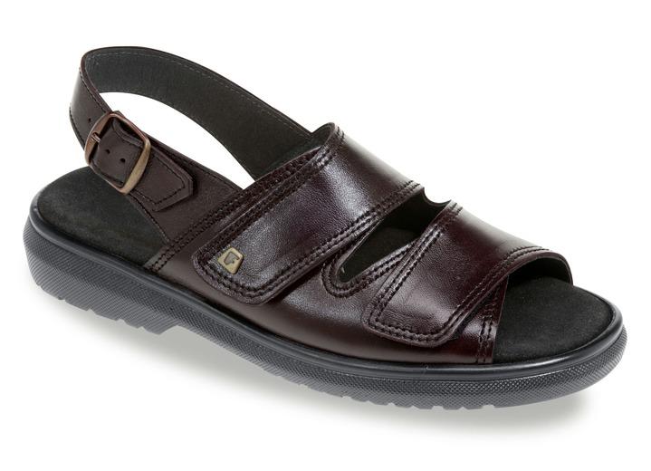 Sandalen   Pantoletten - Hochwertige Sandale in 3 Farben mit herausnehmbarem  Lederfußbett, Extraweite K, 3143925fc8