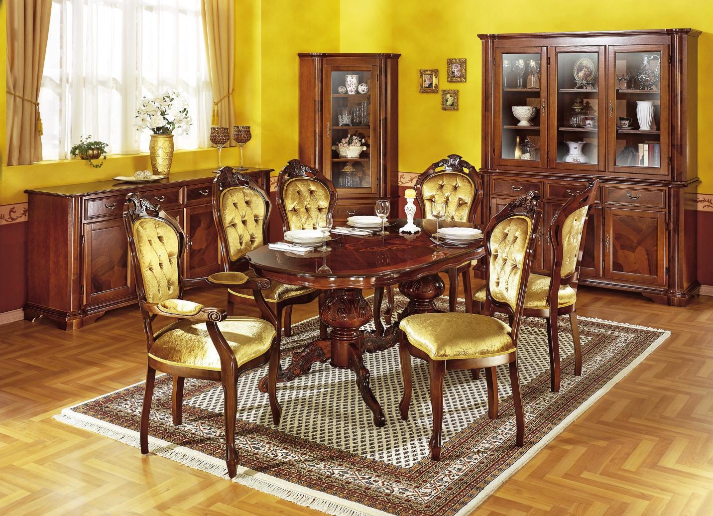 esszimmer m bel mit wurzelholzfurnier verschiedene. Black Bedroom Furniture Sets. Home Design Ideas