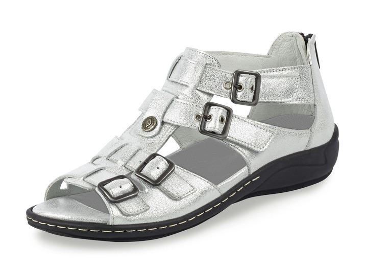 Komfortschuhe - Sandalette in 3 Farben mit herausnehmbarem Lederfußbett,  Weite H, in Größe 4 b9b0633a8d