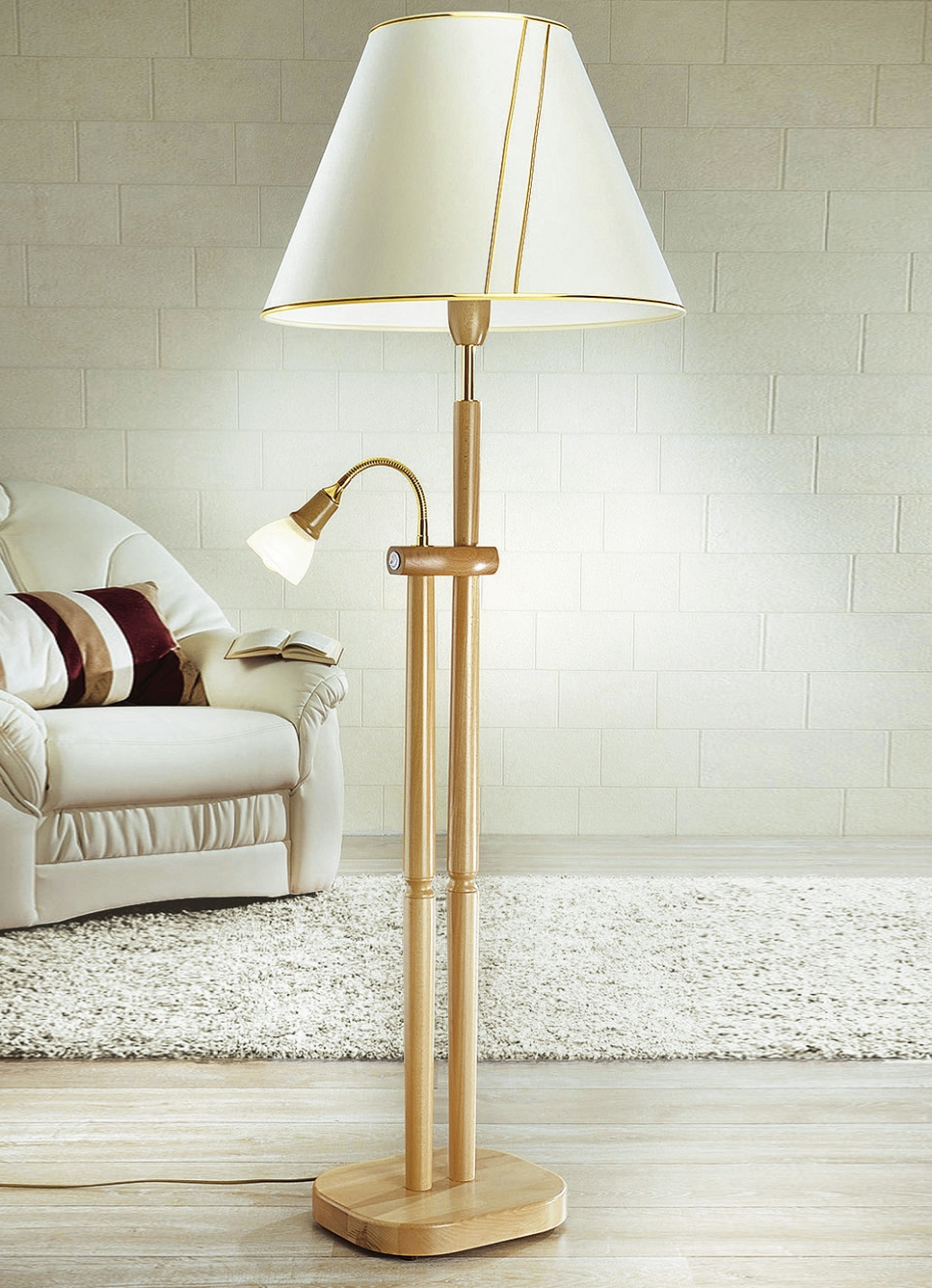 stehleuchte mit leselampe verschiedene farben lampen leuchten brigitte hachenburg. Black Bedroom Furniture Sets. Home Design Ideas