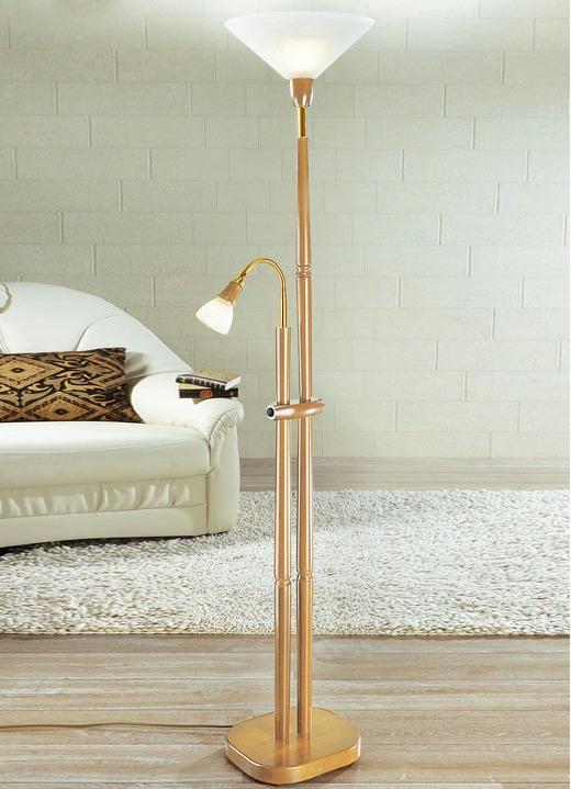 deckenfluter mit leselampe verschiedene farben lampen leuchten brigitte hachenburg. Black Bedroom Furniture Sets. Home Design Ideas