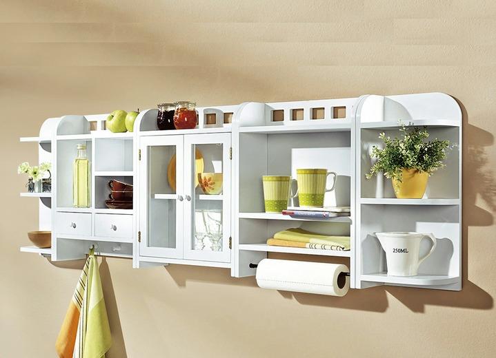 Küchenregal | Regalsystem Fichte Massivholz und Weiß