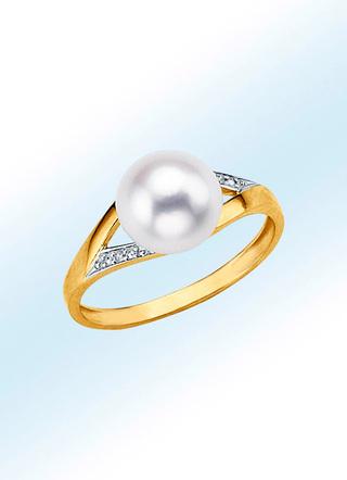 mit Perlen Ringe Damenschmuck echt Gold Schmuck