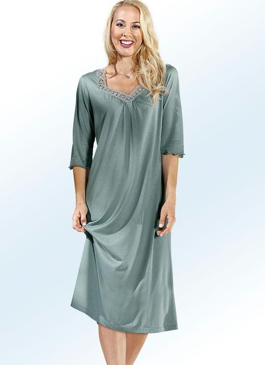 Nachthemd, 34 lange Ärmel und Rundhals