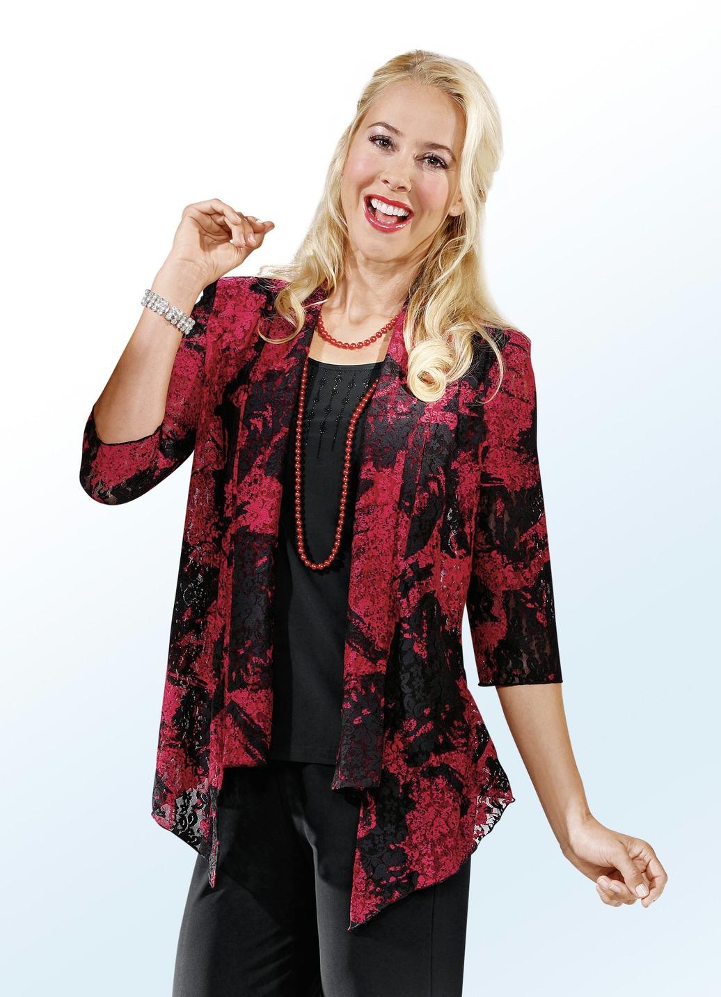 party bluse in beliebter 2 in 1 optik damen brigitte. Black Bedroom Furniture Sets. Home Design Ideas