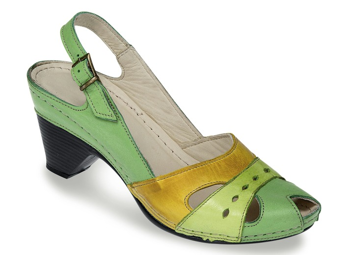 trendy sandalette in 4 farben mit verstellbarem fersenriemchen weite g damen brigitte. Black Bedroom Furniture Sets. Home Design Ideas