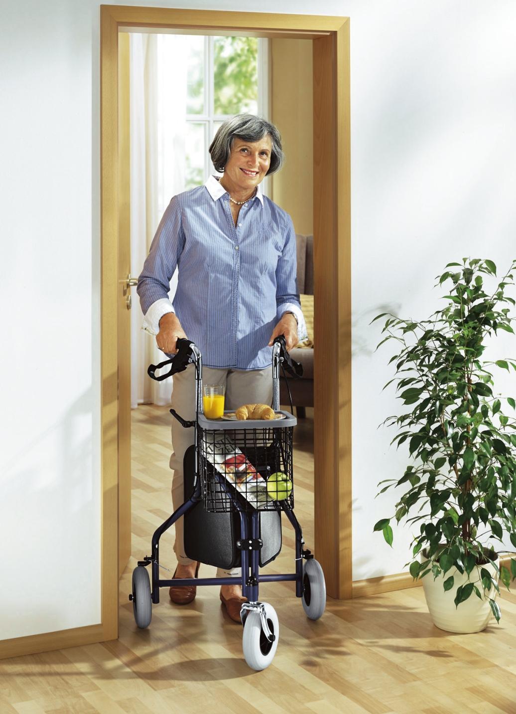 wohnungs rollator schmal und leicht f r gute wenigkeit. Black Bedroom Furniture Sets. Home Design Ideas