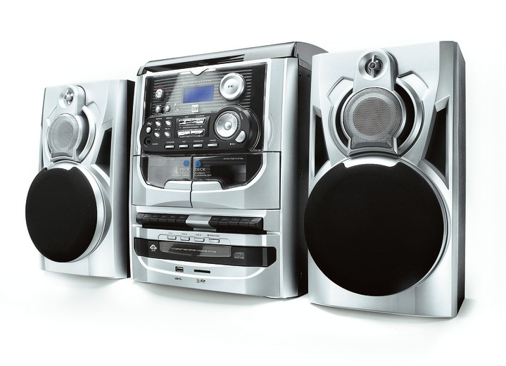 Modern - Dual MP 301 DAB+ Stereoanlage, in Farbe SILBER