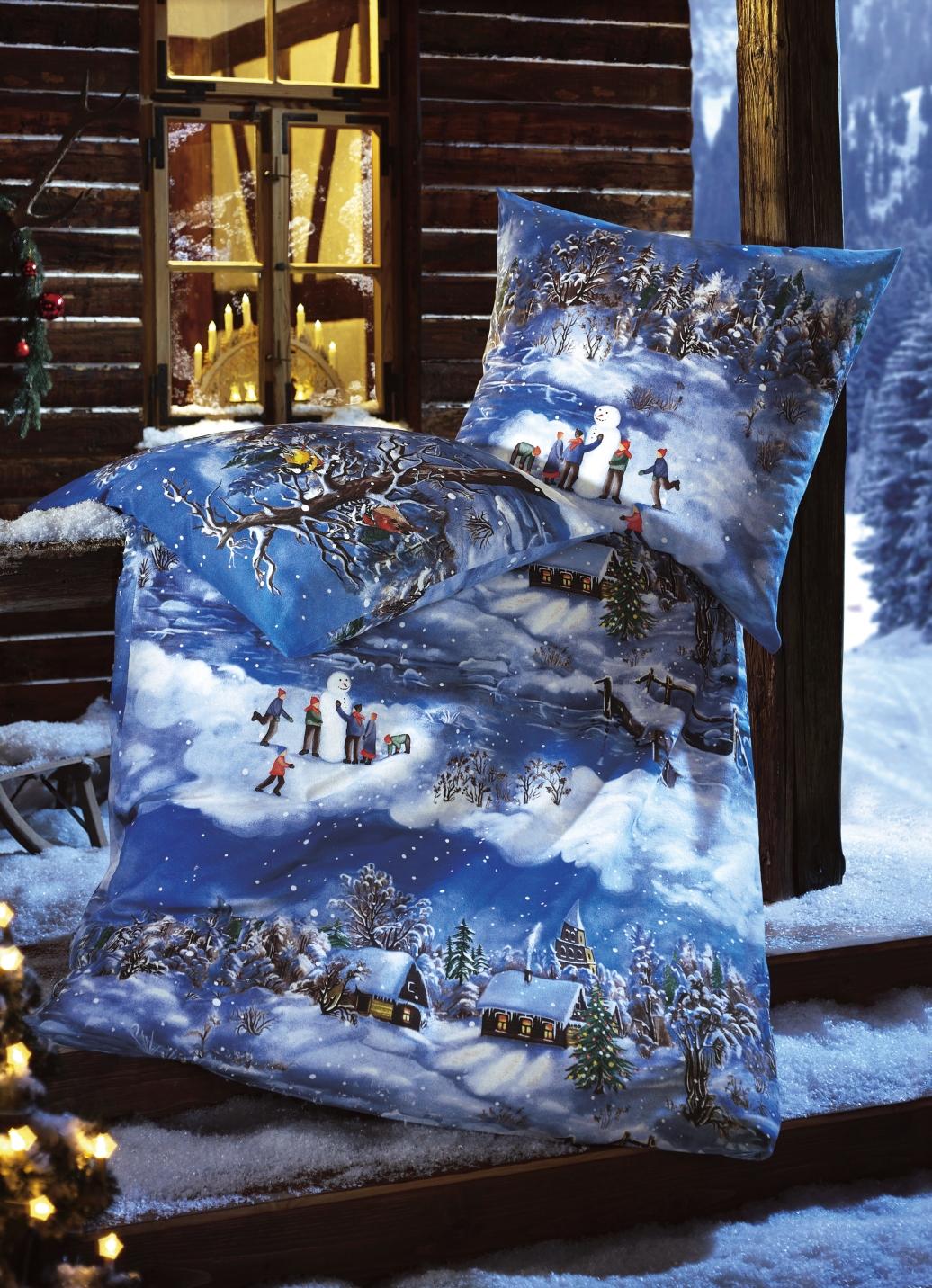dobnig bettw sche garnitur mit wintermotiv bettw sche brigitte hachenburg. Black Bedroom Furniture Sets. Home Design Ideas