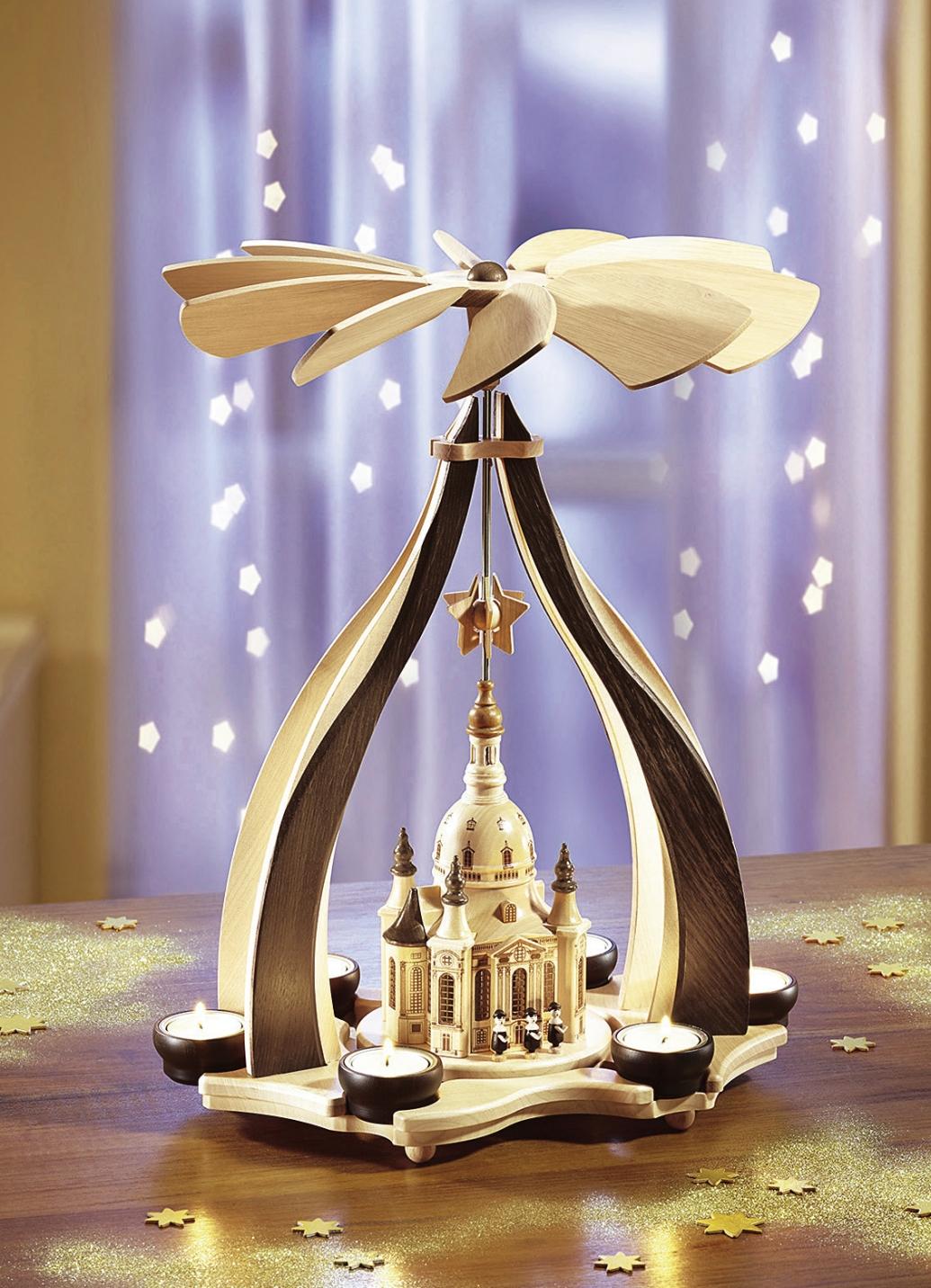 zeidler tischpyramide dresdner frauenkirche aus dem erzgebirge brigitte hachenburg. Black Bedroom Furniture Sets. Home Design Ideas