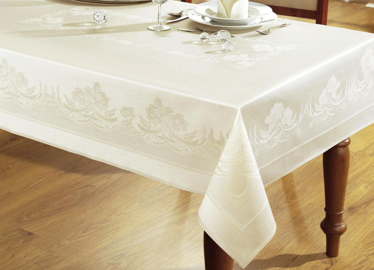 curt bauer damast tischdekoration ranken tischdecken brigitte hachenburg. Black Bedroom Furniture Sets. Home Design Ideas