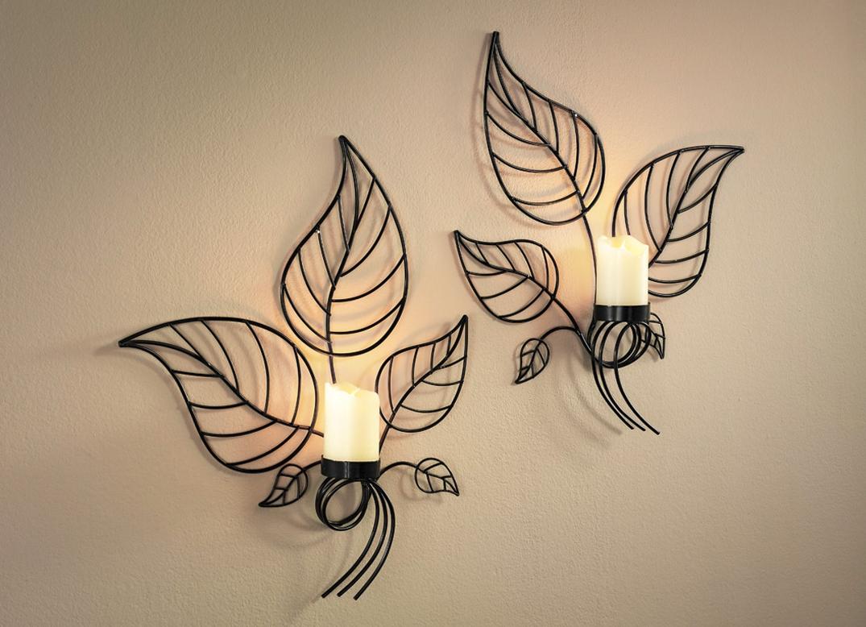 wandkerzenhalter 2er set wohnaccessoires brigitte hachenburg. Black Bedroom Furniture Sets. Home Design Ideas
