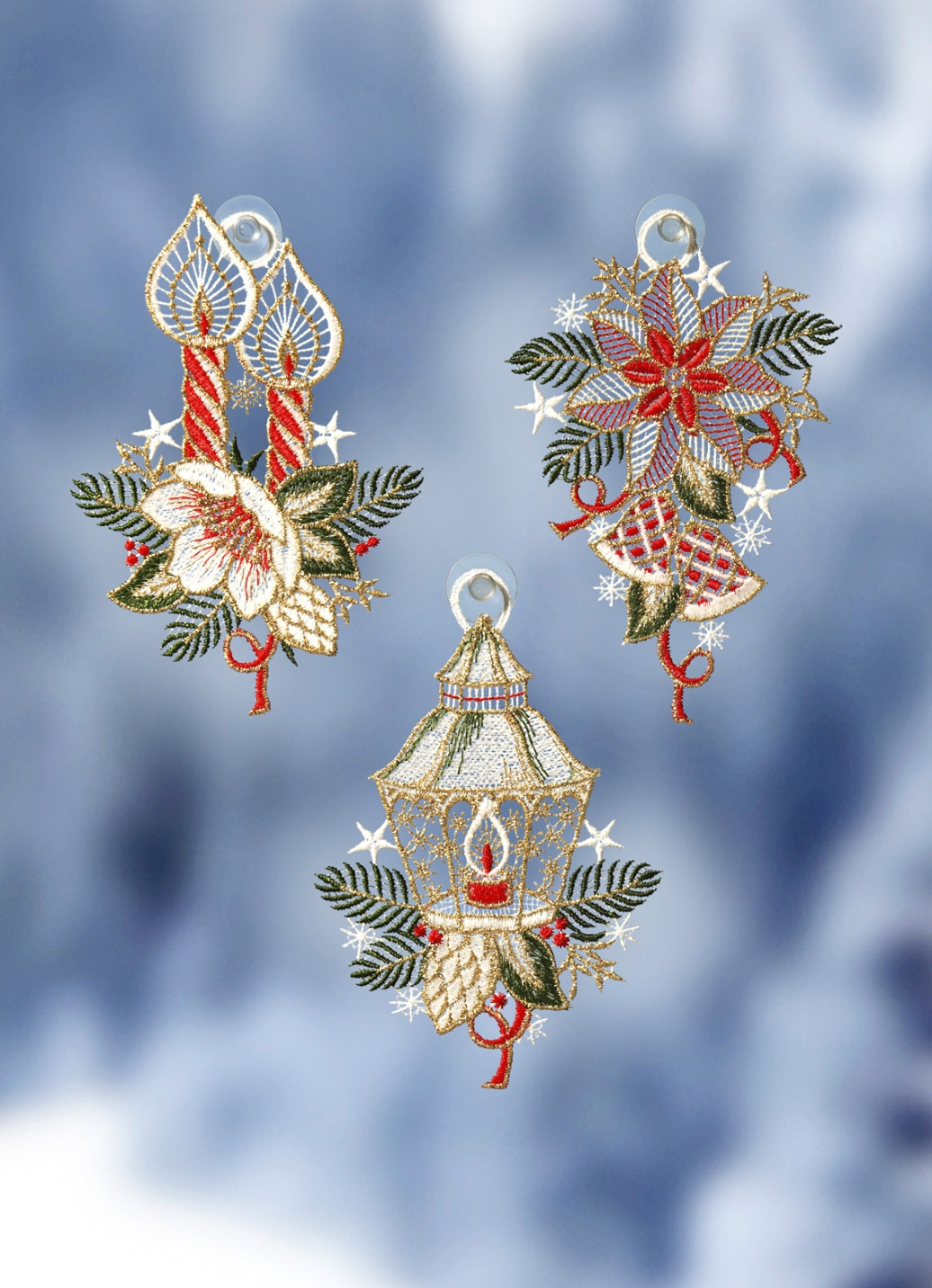 fensterbilder 3er set weihnachten fensterdekorationen brigitte hachenburg. Black Bedroom Furniture Sets. Home Design Ideas