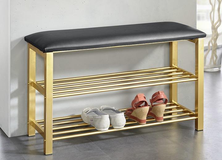 schuhregal sitzbank in verschiedenen ausf hrungen garderobenm bel brigitte hachenburg. Black Bedroom Furniture Sets. Home Design Ideas