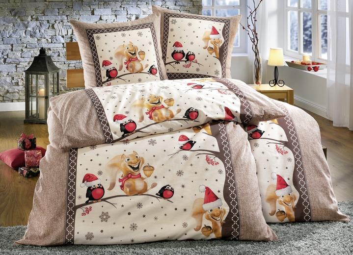 dobnig bettw sche garnitur mit eichh rnchen motiven bettw sche brigitte hachenburg. Black Bedroom Furniture Sets. Home Design Ideas
