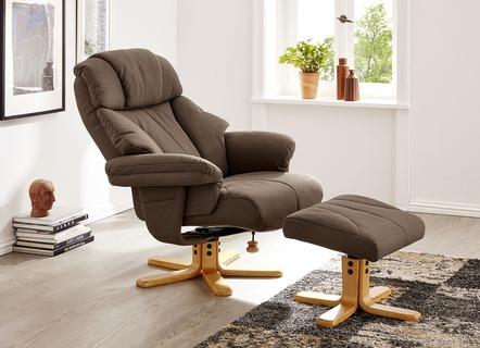 Relax Sessel Mit Hocker In Verschiedenen Farben