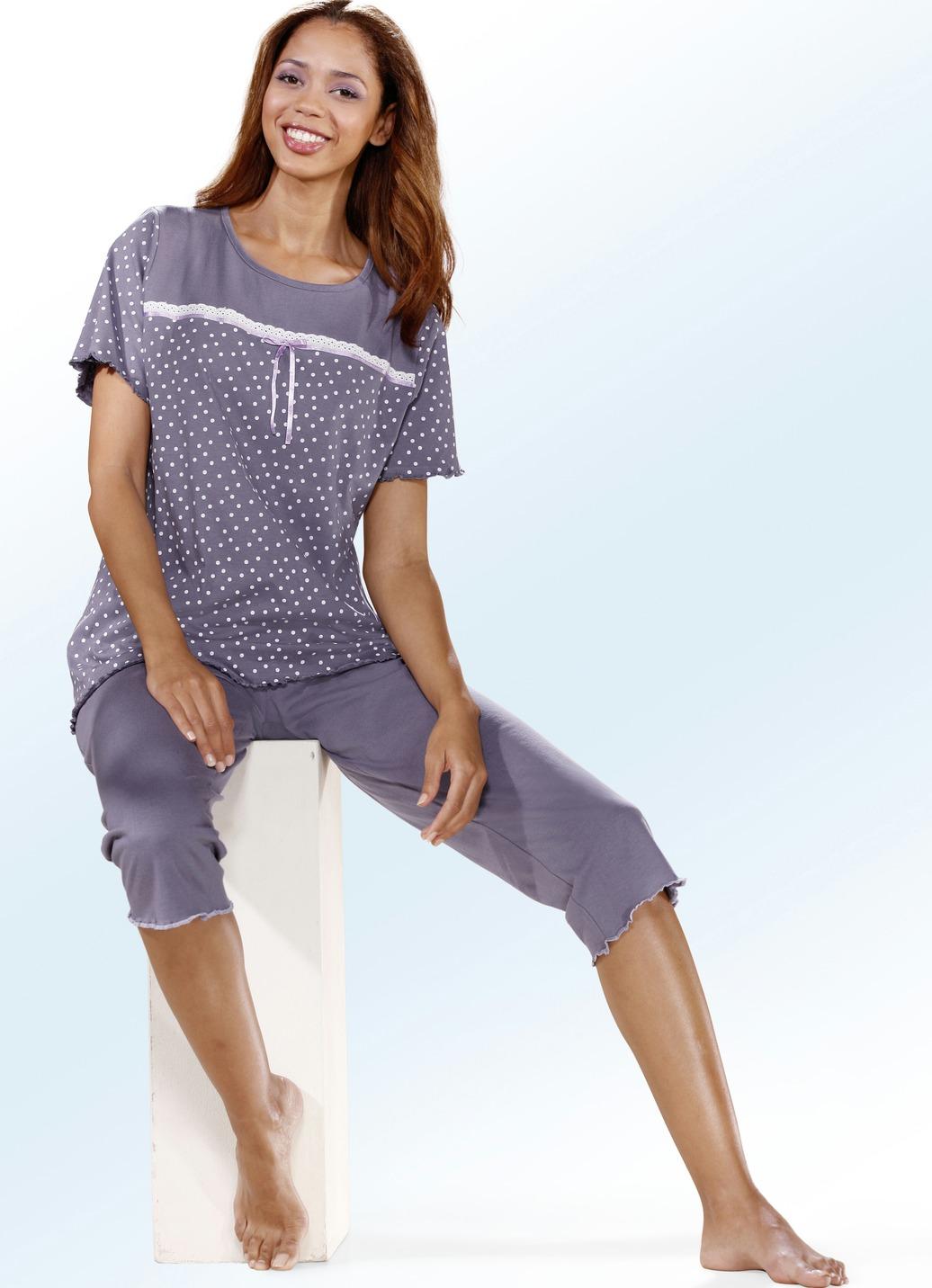 top ten schlafanzug kurzarm mit rundhals damen brigitte hachenburg. Black Bedroom Furniture Sets. Home Design Ideas
