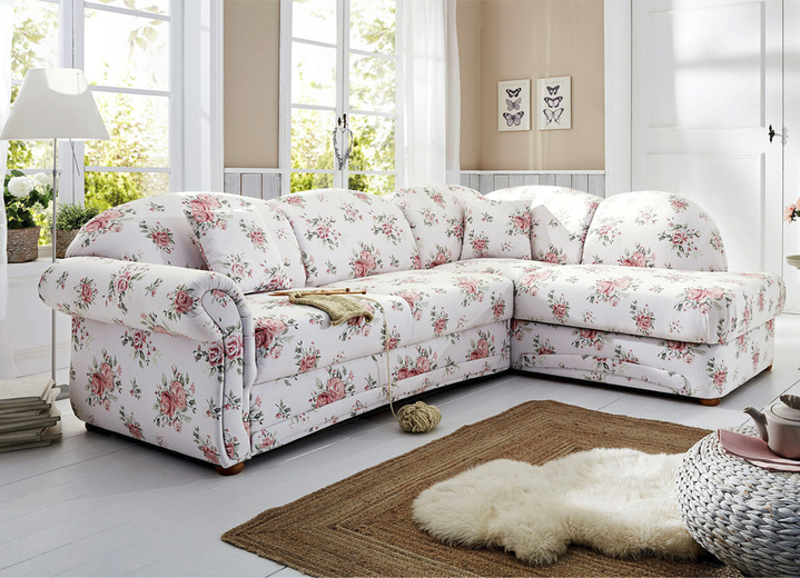 polsterecke in l form mit bettfunktion und bettkasten wohnzimmer brigitte hachenburg. Black Bedroom Furniture Sets. Home Design Ideas