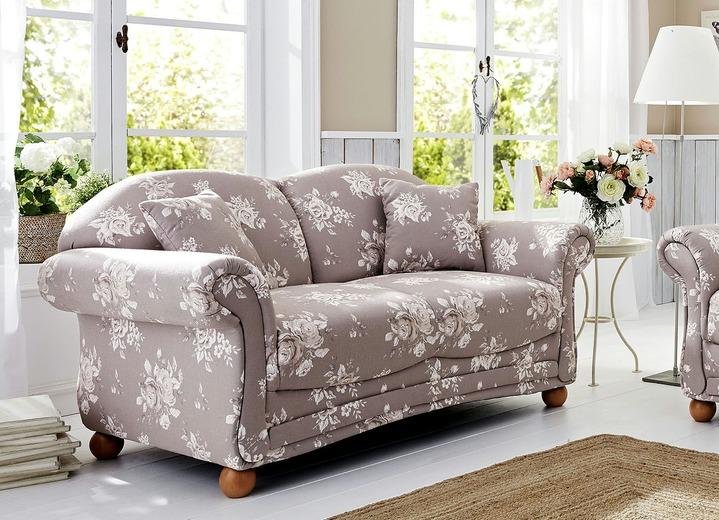 Polstermöbel   Romantisch Blumige Polstermöbel, Verschiedene Ausführungen,  In Farbe BRAUN BEIGE,