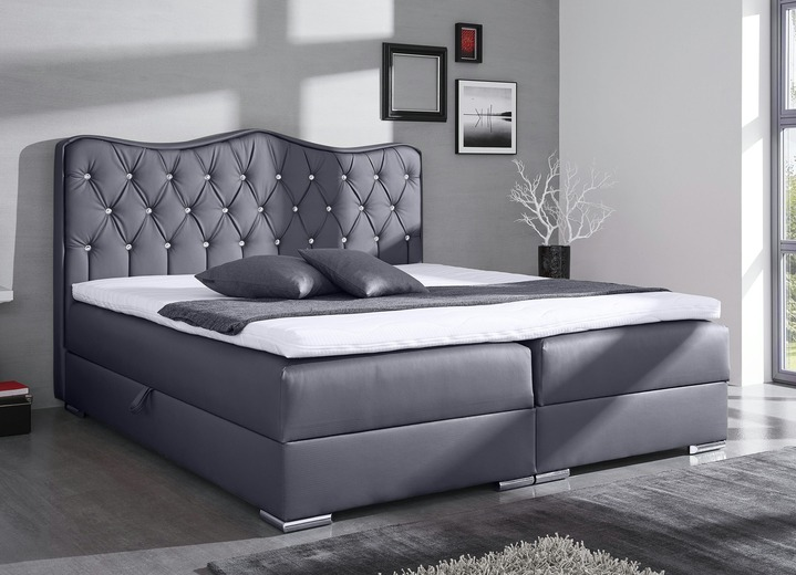 Betten   Boxspringbett In Verschiedenen Ausführungen, In Farbe GRAU Ansicht  1