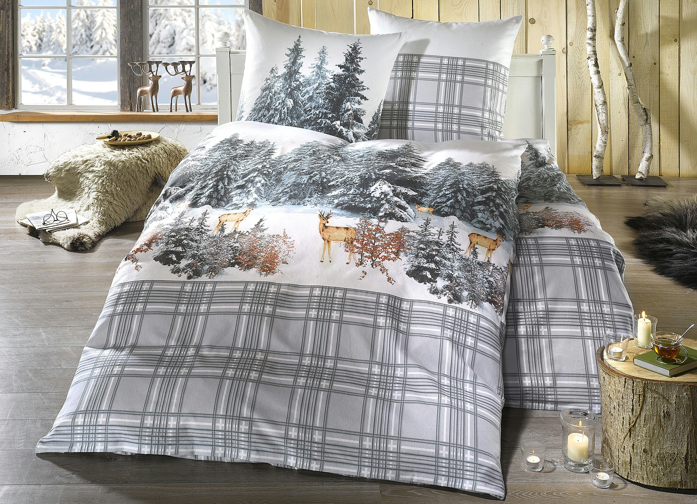 irisette bettw sche garnitur winterlandschaft bettw sche brigitte hachenburg. Black Bedroom Furniture Sets. Home Design Ideas