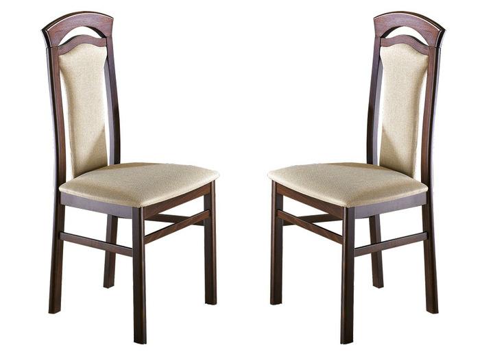 Esszimmer   Stühle, 2er Set In Verschiedenen Ausführungen, In Farbe  NUSSBAUM/BEIGE