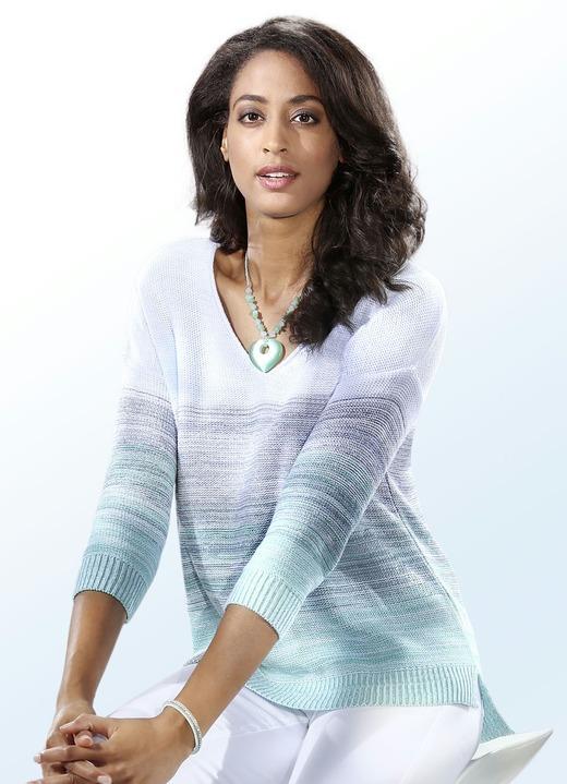 pullover in 2 farben aus melangegarn mit farbverl ufen damen brigitte hachenburg. Black Bedroom Furniture Sets. Home Design Ideas