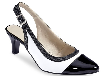 Eleganter Sling-Pumps in 2 Farben