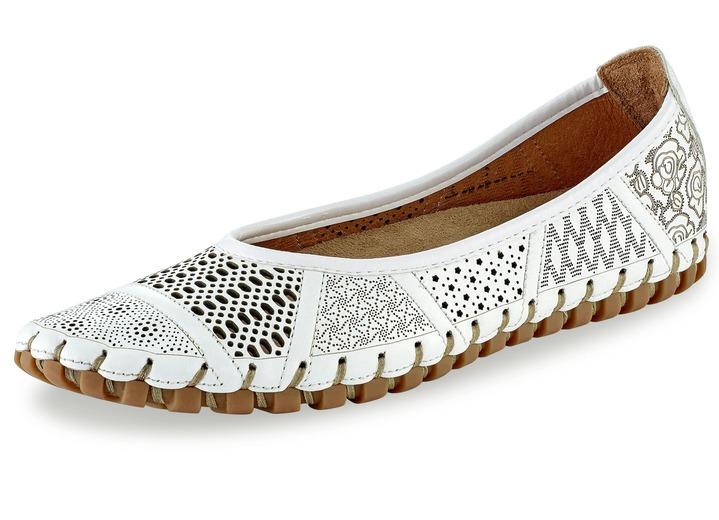 Durchbrochener Slipper in 3 Farben, mit herausnehmbarem Fußbett, Weite G