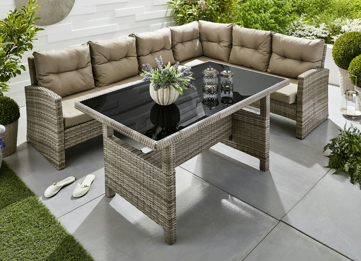 Gartenmöbel - Dining-Lounge-Set
