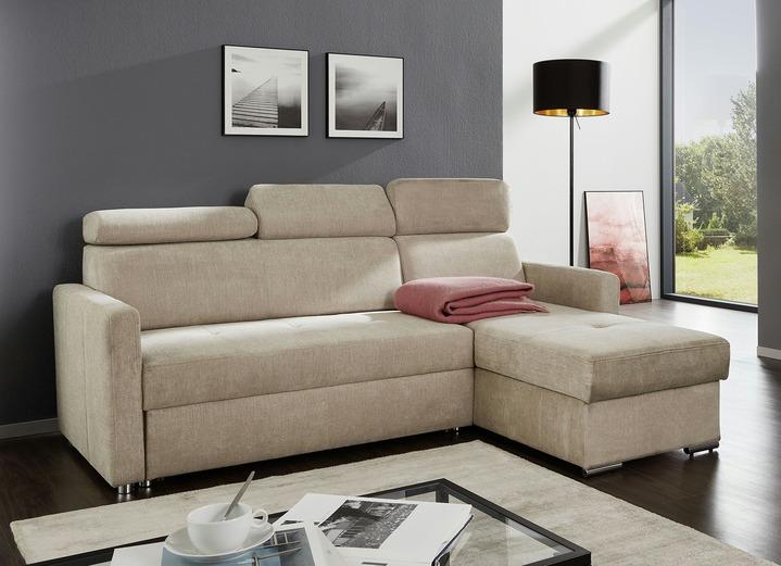 polsterecke mit schlaffunktion in verschiedenen farben wohnzimmer brigitte hachenburg. Black Bedroom Furniture Sets. Home Design Ideas