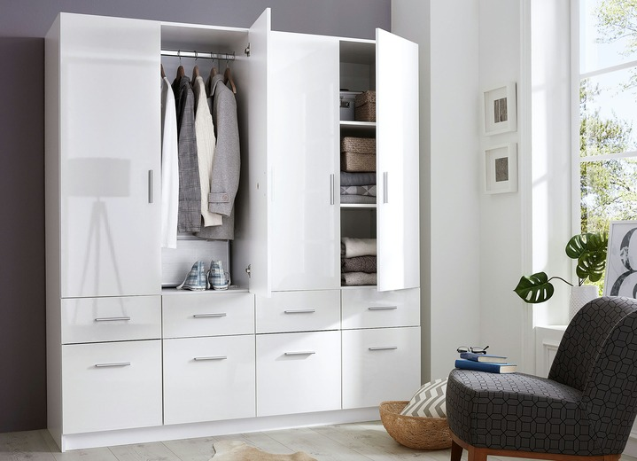 kleiderschrank in wei hochglanz schlafzimmer brigitte hachenburg. Black Bedroom Furniture Sets. Home Design Ideas