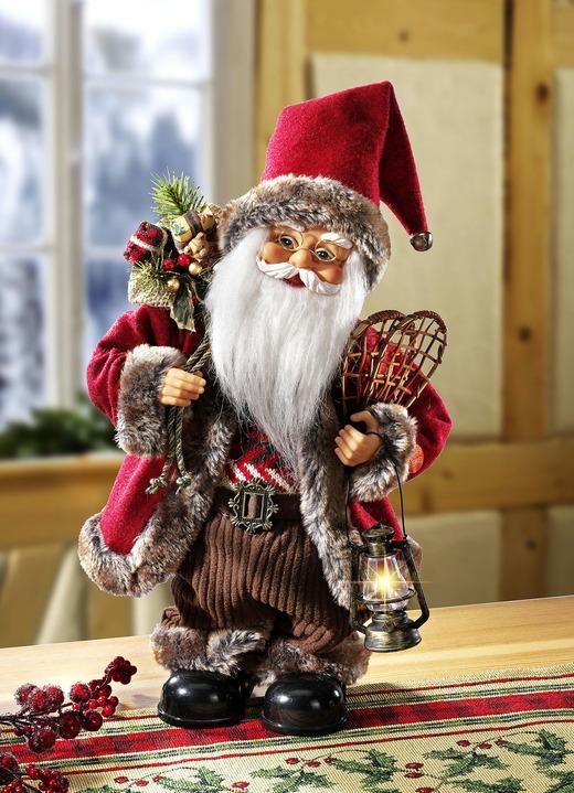 weihnachtsmann mit beleuchteter laterne weihnachtliche. Black Bedroom Furniture Sets. Home Design Ideas