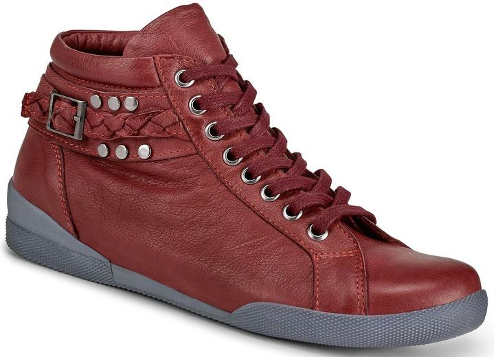 bface021c58c7e Stiefel   Stiefeletten - Angesagte Stiefelette in 3 Farben mit  herausnehmbarer Lederdecksohle