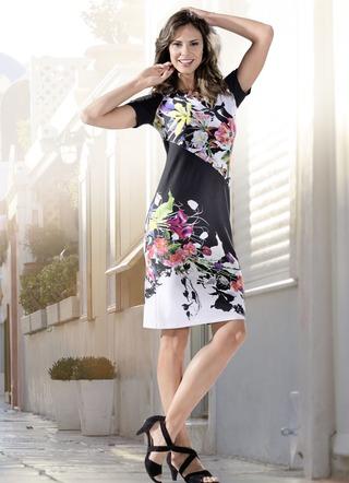 c239a6ae720528 KLAUS MODELLE Kleid mit Bordürendruck. KLAUS MODELLE MADE IN GERMANY