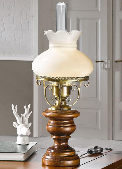 tischleuchte mit lampenschirm aus glas lampen leuchten brigitte hachenburg. Black Bedroom Furniture Sets. Home Design Ideas