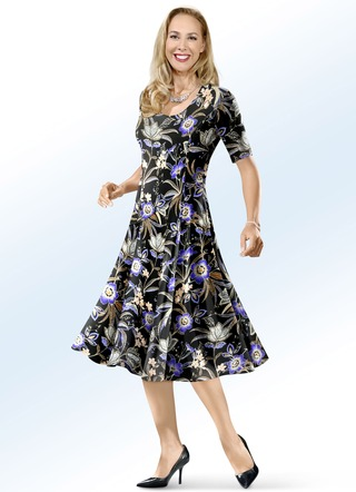 f151122ac58b1b KLAUS MODELLE Kleid mit farbbrillantem Inkjet-Druck. KLAUS MODELLE MADE IN  GERMANY