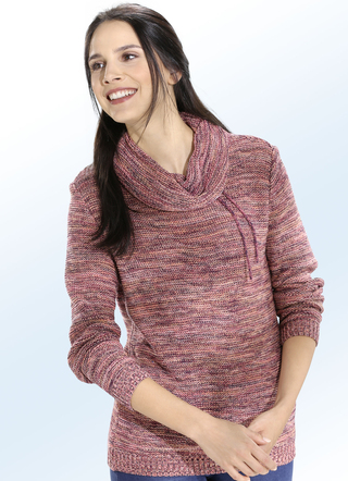 Pullover in 2 Farben mit recycelter Baumwolle