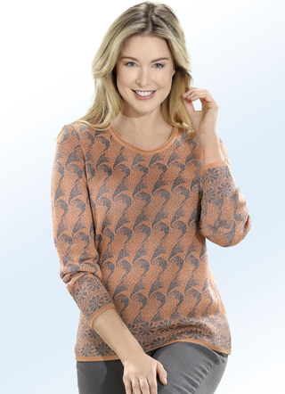Pullover in 2 Farben mit Allover-Muster