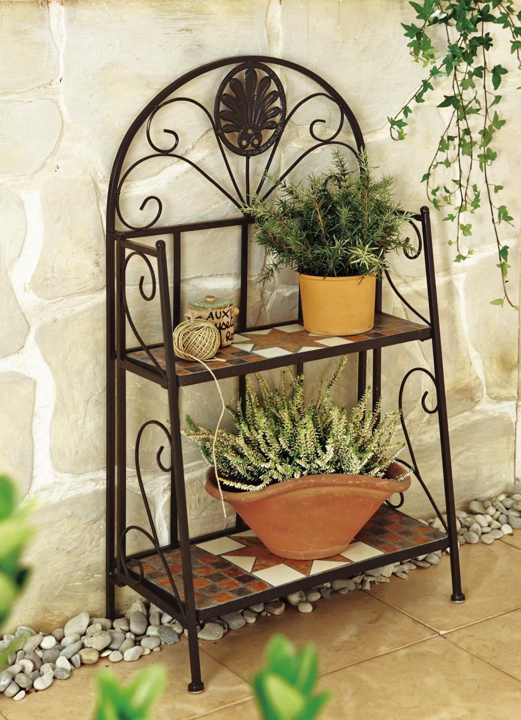 mosaik regal gartenm bel brigitte hachenburg. Black Bedroom Furniture Sets. Home Design Ideas