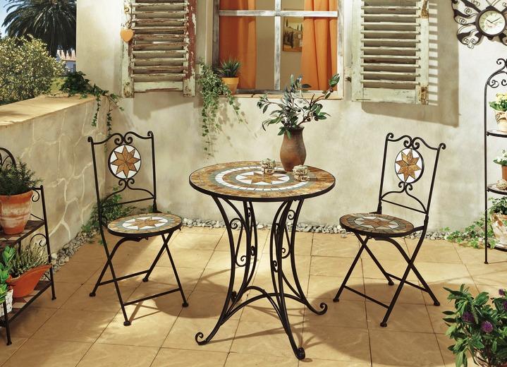 Gartenmöbel gartenmöbel verschiedene ausführungen in farbe schwarz terra in ausführung tisch