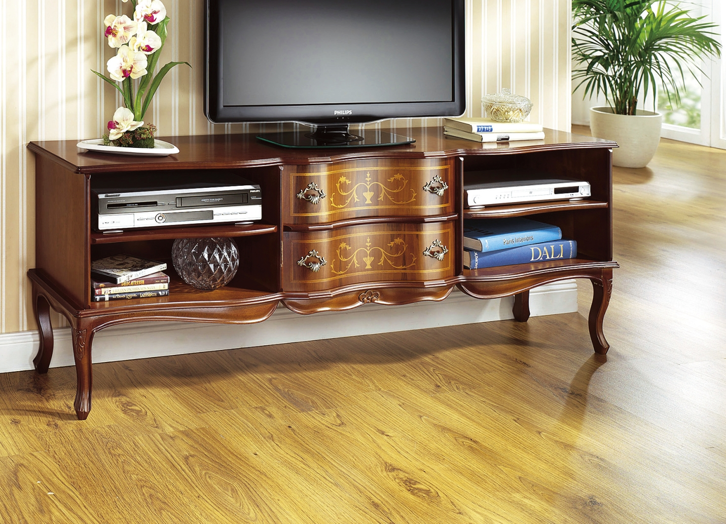 tv longboard in nussbaum mit echtholzfurnier hifi tv m bel brigitte hachenburg. Black Bedroom Furniture Sets. Home Design Ideas