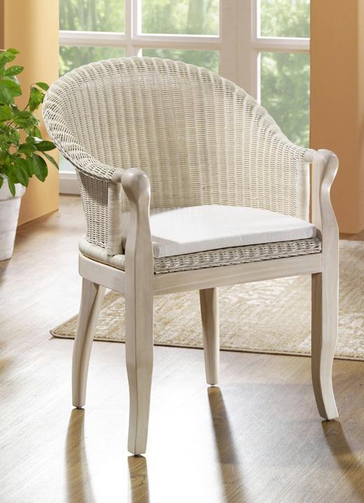 Sessel mit Sitzkissen in verschiedenen Farben - Landhausmöbel ...