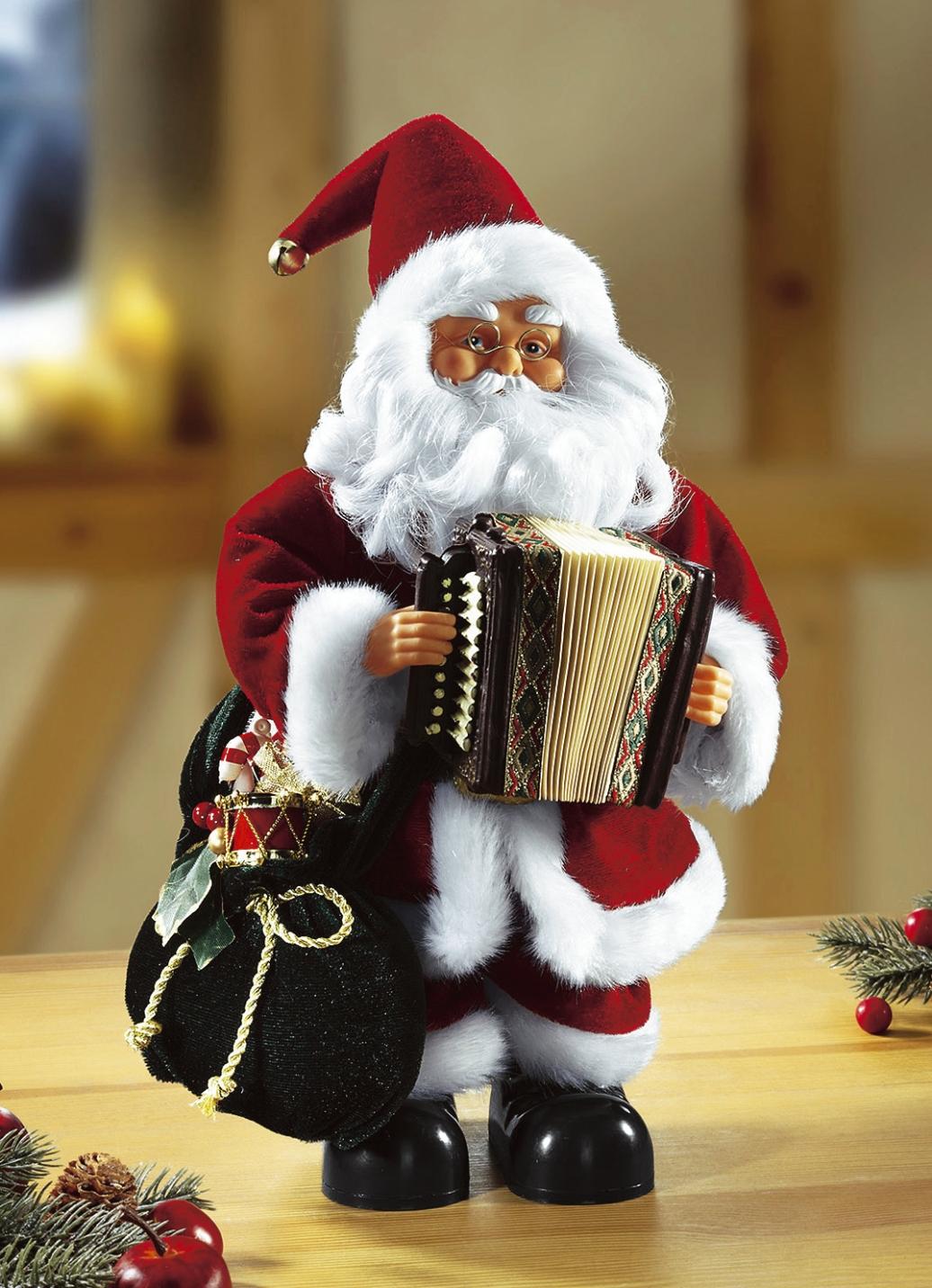 weihnachtsmann mit ziehharmonika weihnachtliche. Black Bedroom Furniture Sets. Home Design Ideas
