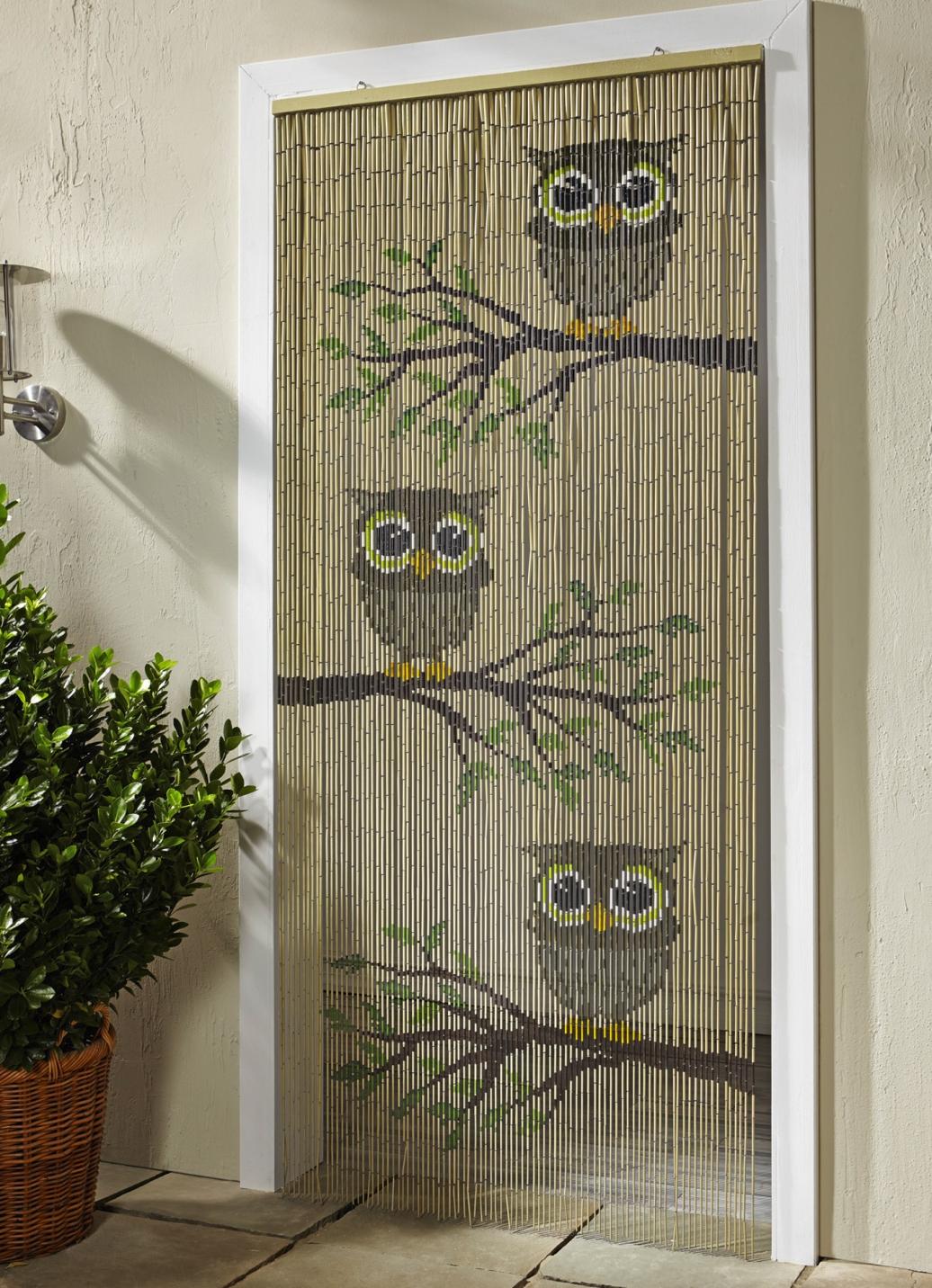 bambus vorhang eulen sichtschutz und sonnenschutz. Black Bedroom Furniture Sets. Home Design Ideas