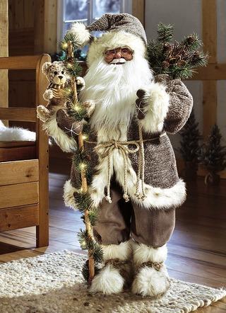 weihnachtsmann mit beleuchtung weihnachtliche dekorationen brigitte hachenburg. Black Bedroom Furniture Sets. Home Design Ideas