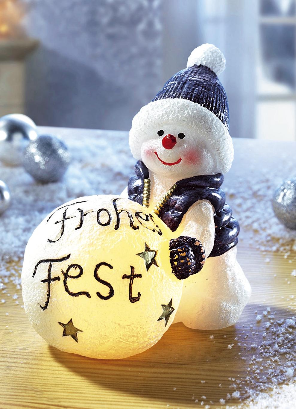 led schneemann weihnachtliche dekorationen brigitte. Black Bedroom Furniture Sets. Home Design Ideas