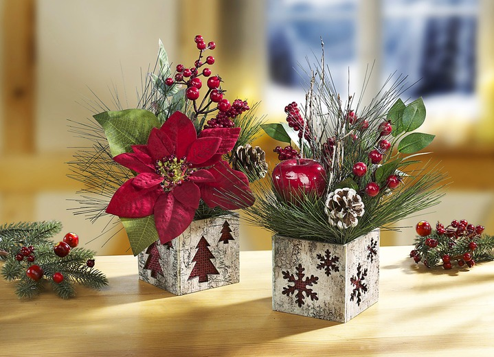 weihnachtsgestecke er set gestecke kraenze brigitte